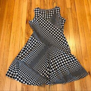 Houndstooth Taylor Dress